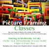 Picture Framing classes… confirmed!