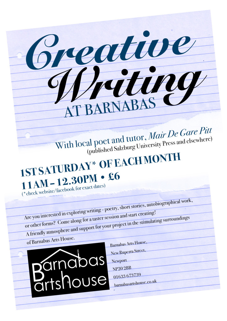 Creative Writing-November @ Barnabas Arts House | Wales | United Kingdom