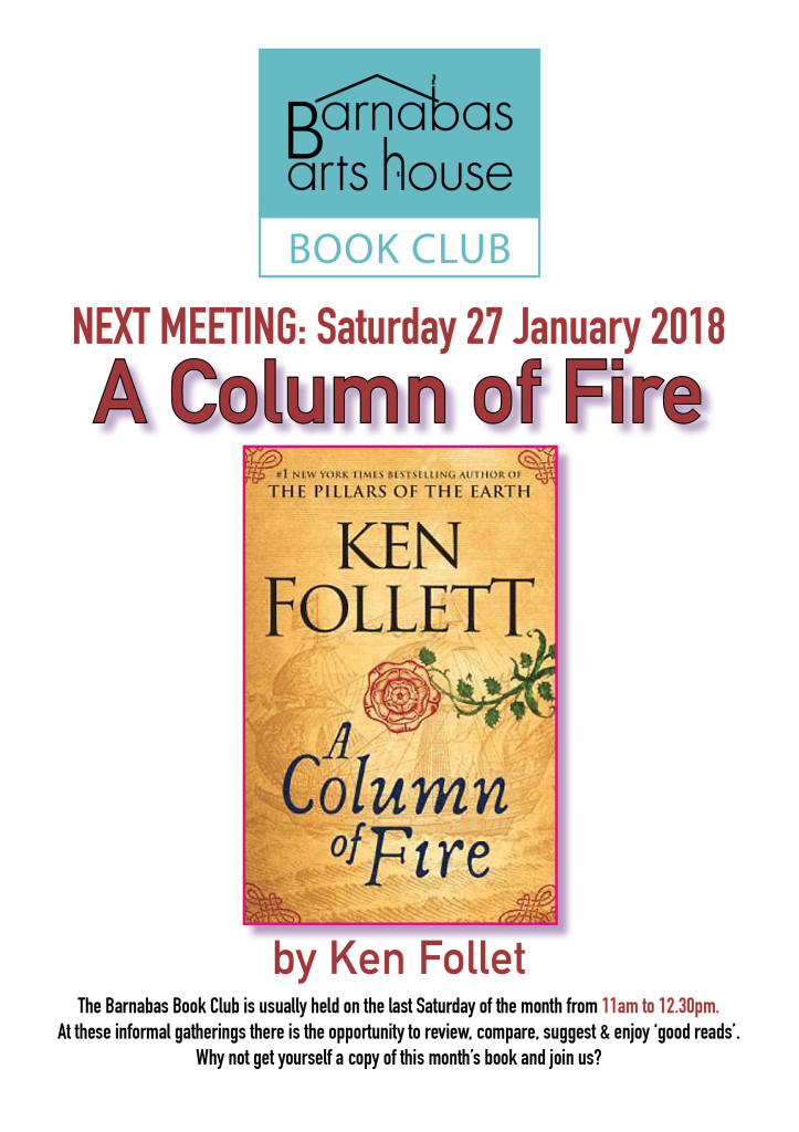 Barnabas Book Club-A Column of Fire @ Barnabas Arts House | Wales | United Kingdom