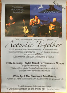 CANCELLED - 'ACOUSTIC TOGETHER' at The PM @ The Phyllis Maud Performance Space